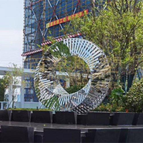 《圓環》不銹鋼地產雕塑